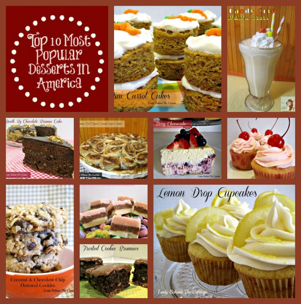 Lady Behind The Curtain - Top 10 Most Popular Desserts In America