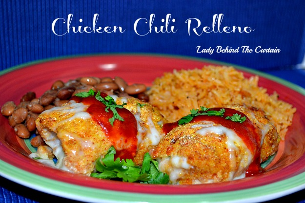 Lady Behind the Curtain - Chicken Chili Relleno