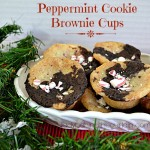 Peppermint Cookie Brownie Cups