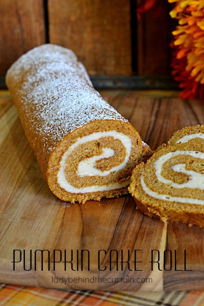 Pumpkin Cake Roll | Probably the most popular dessert next to the pumpkin pie.