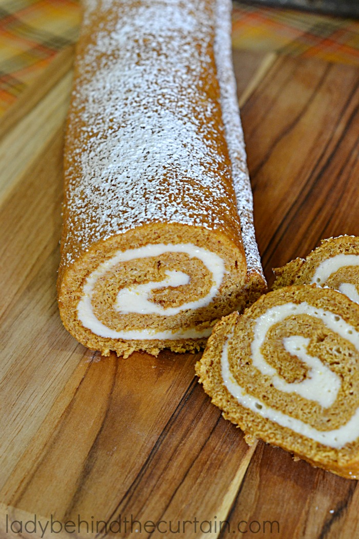 Pumpkin Cake Roll | Probably the most popular dessert next to the pumpkin pie.