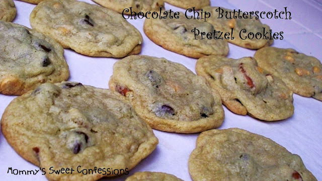 chocolate chip butterscotch pretzel cookies