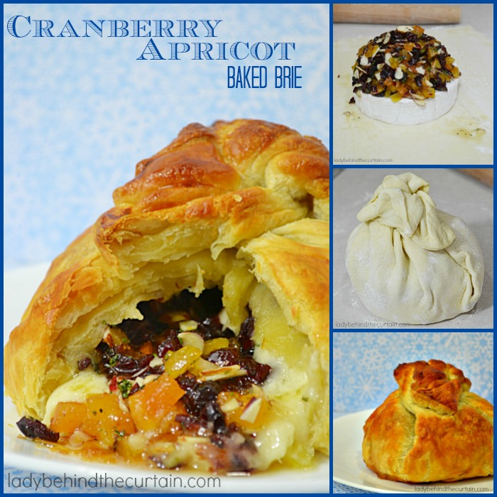 Cranberry Apricot Baked Brie | This easy to make elegant appetizer will wow your guests with its presentation and flavor!