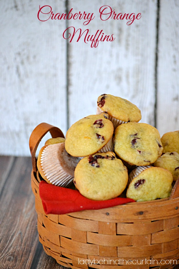 Cranberry Orange Muffins - Lady Behind The Curtain