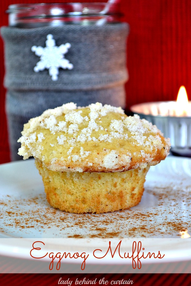 Eggnog Muffins - Lady Behind The Curtain