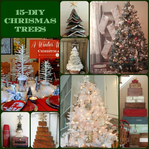 Lady Behind The Curtain - 15-DIY Christmas Trees