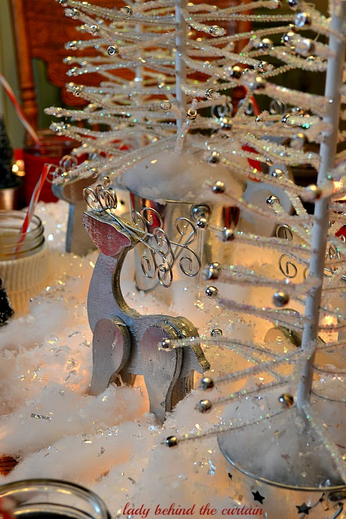Lady Behind The Curtain - A Country Winter Wonderland Christmas Table