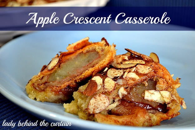 Lady Behind The Curtain - Apple Crescent Casserole