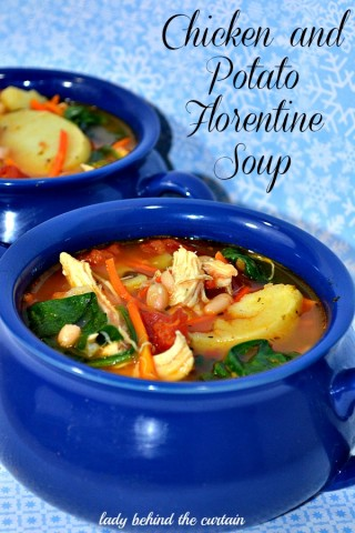 Lady Behind The Curtain - Chicken and Potato Florentine Soup