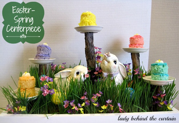 Lady-Behind-The-Curtain-Easter-Spring-Centerpiece