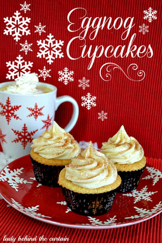Lady Behind The Curtain - Eggnog Cupcakes