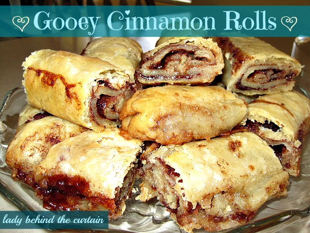 Lady Behind The Curtain - Gooey Cinnamon Rolls