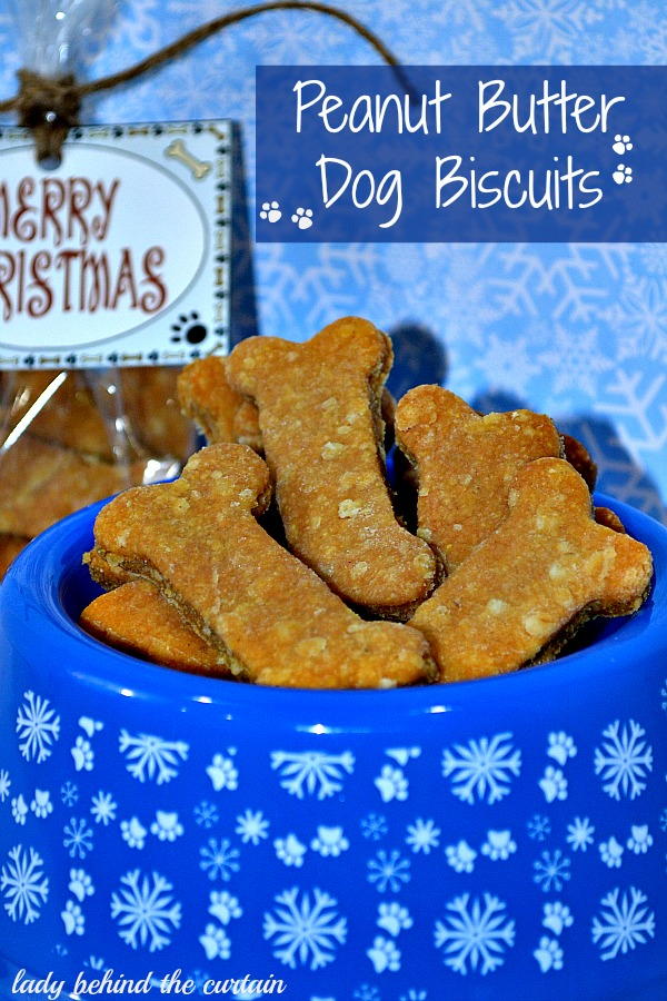 Lady Behind The Curtain - Peanut Butter Dog Biscuits