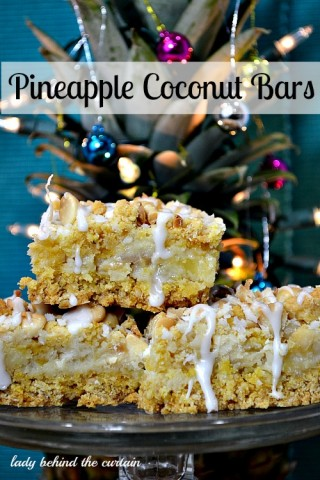 Lady Behind The Curtain - Pineapple Coconut Bars