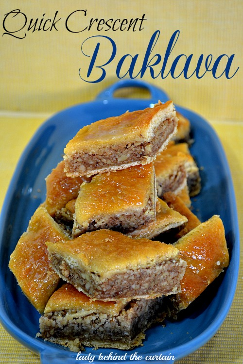 Lady Behind The Curtain - Quick Crescent Baklava