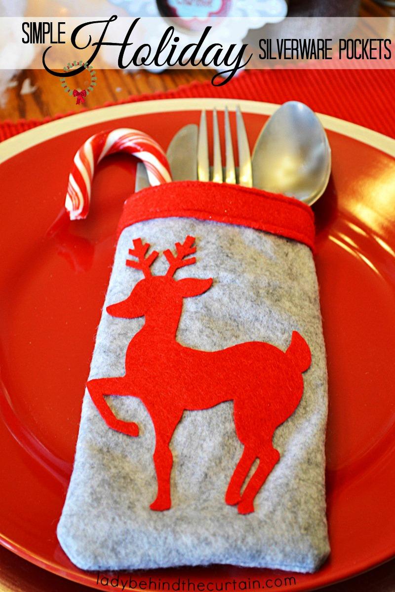 Simple Holiday Silverware Pockets
