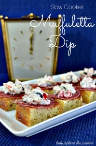 Slow Cooker Muffuletta Dip - Lady Behind The Curtain