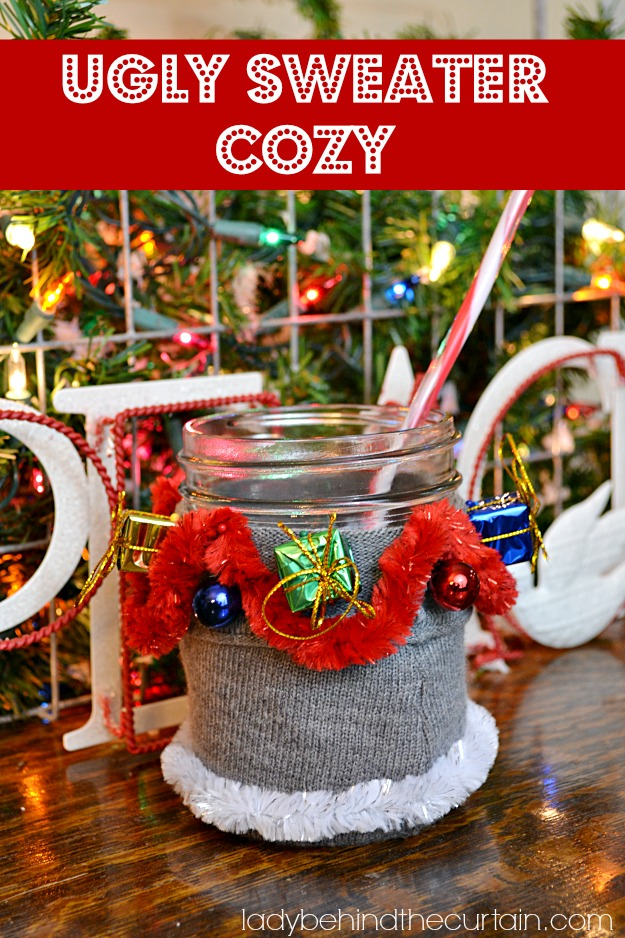 ugly christmas sweater cozy - How To Decorate A Ugly Christmas Sweater
