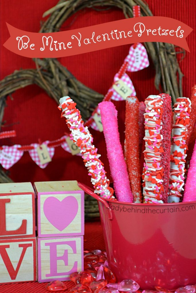 Be Mine Valentine Pretzels