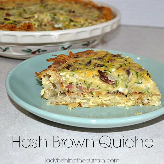 Hash Brown Quiche - Lady Behind The Curtain