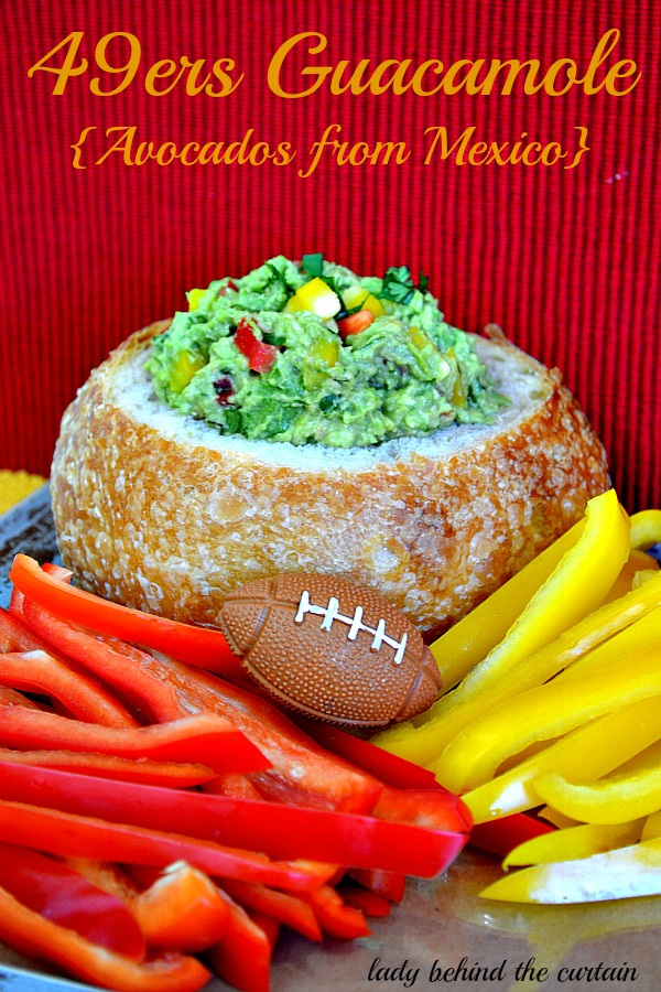 Lady Behind The Curtain - 49ers Guacamole {Avocados from Mexico}