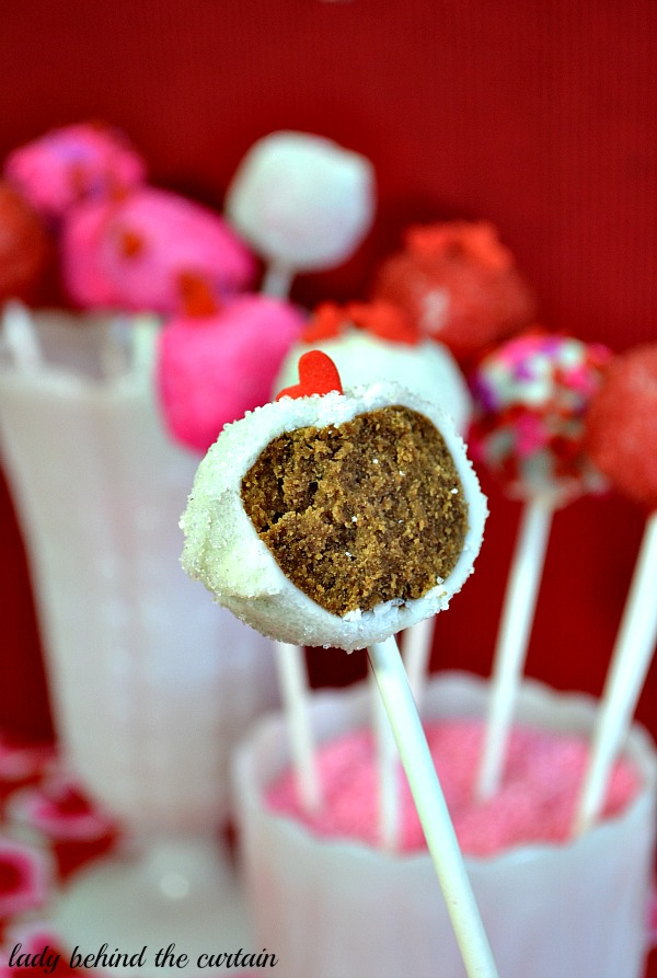 Lady Behind The Curtain - Be My Valentine Cookie Pops