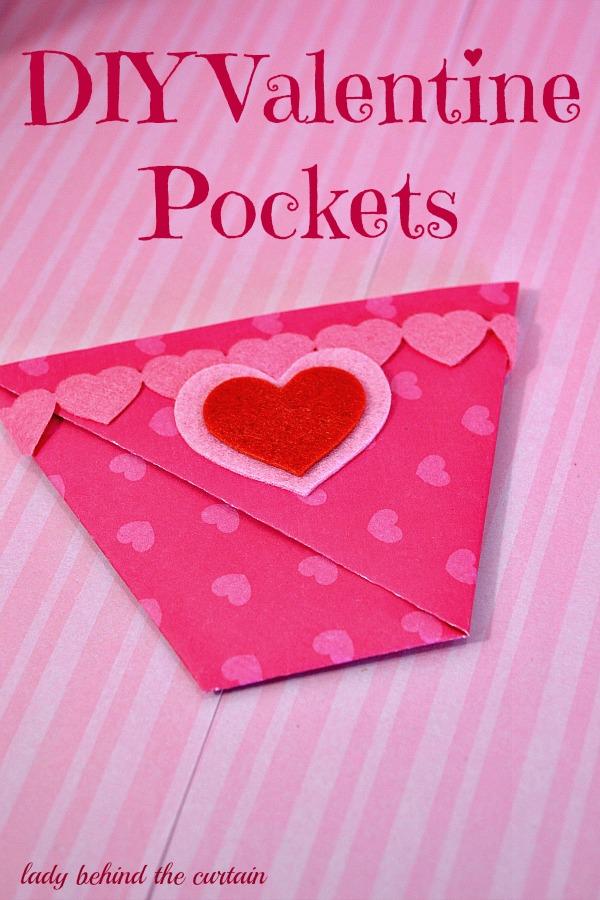 Lady Behind The Curtain - DIY Valentine Pockets