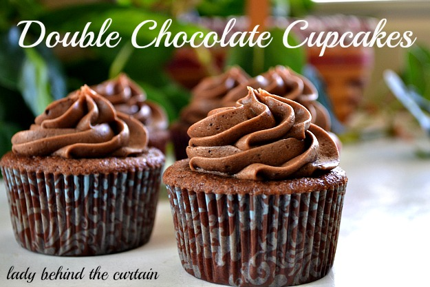Lady Behind The Curtain - Double Chocolate Cupcakes
