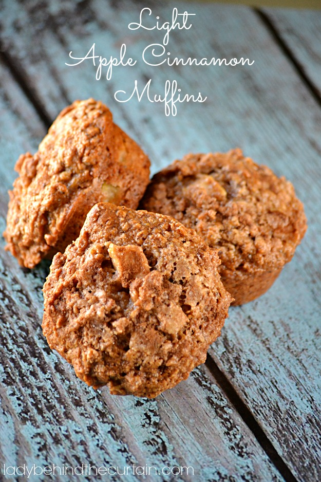 Light Apple Cinnamon Muffins - Lady Behind The Curtain