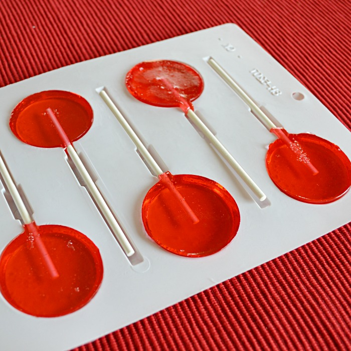 Homemade Cherry Lollipops