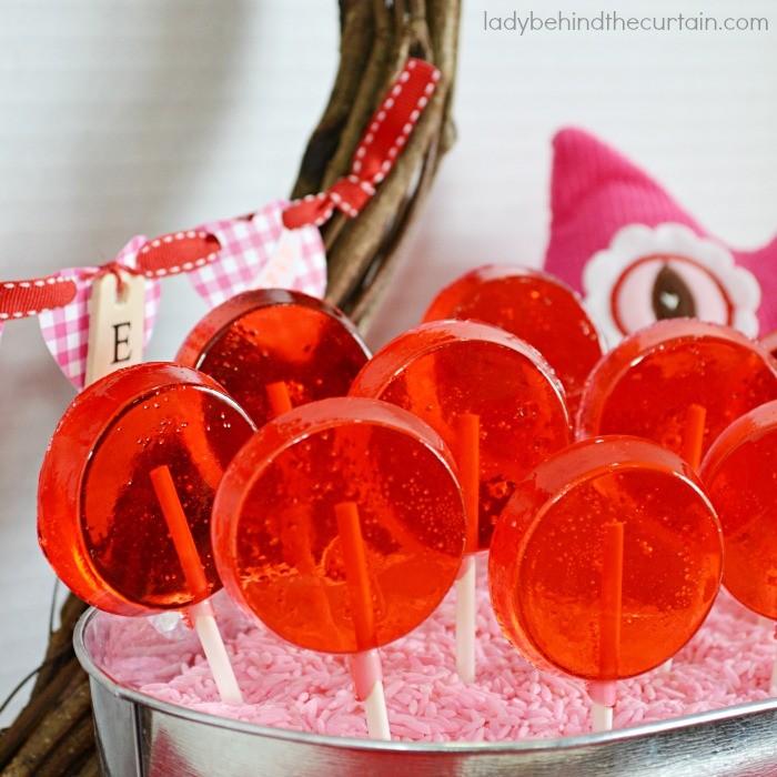 Homemade Cherry Lollipops