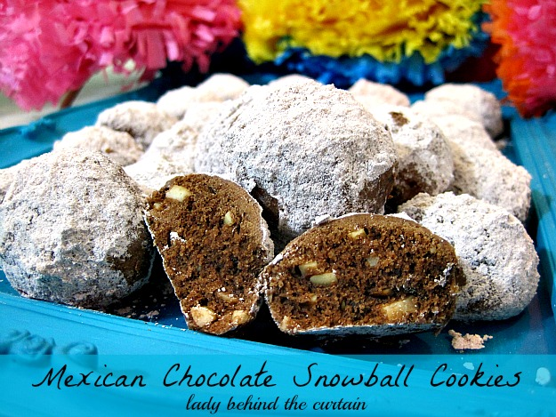 Lady Behind The Curtain - Mexican Chocolate Snowball Cookies