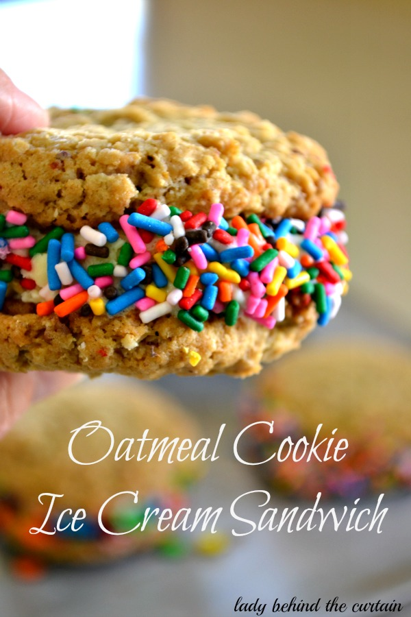 Lady Behind The Curtain - Oatmeal Cookie Ice Cream Sandwich