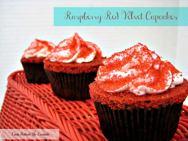 Lady-Behind-The-Curtain-Raspberry-Red-Velvet-Cupcakes