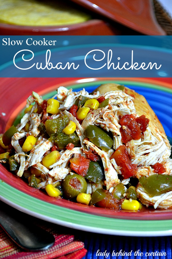 Lady Behind The Curtain - Slow Cooker Cuban Chicken