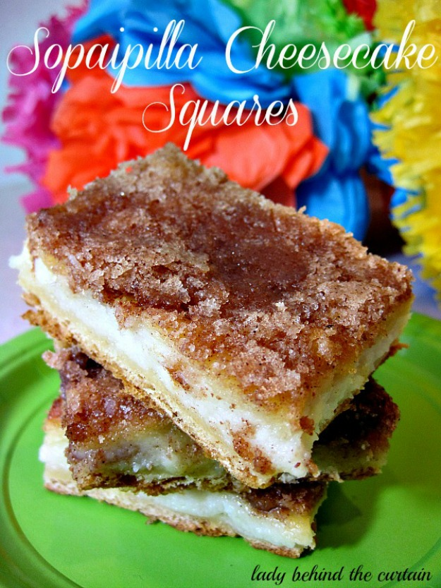 Lady Behind The Curtain - Sopaipilla Cheesecake Squares