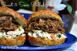 Slow Cooker – Light Sweet and Sour Pulled Pork Sandwiches