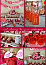 Owl Always Be Your Valentine – Kid's Valentine's Day Dessert Table