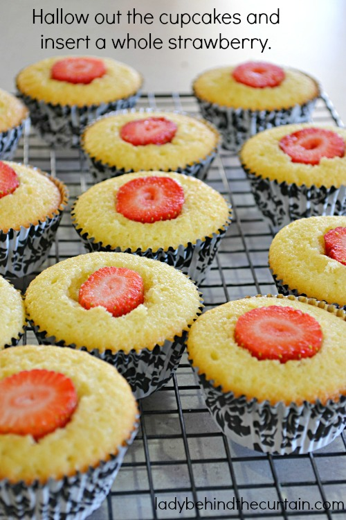 Strawberry Shortcake Cupcakes - Lady Behind The Curtain