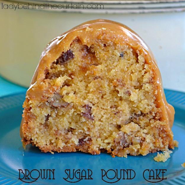 Brown Sugar Pound Cake - Brown sugar cake