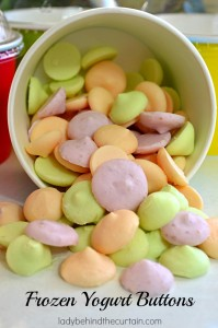 Frozen Yogurt Buttons - Lady Behind The Curtain
