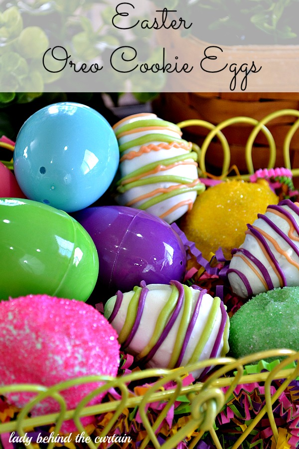 Lady Behind The Curtain - Easter Oreo Cookie Eggs