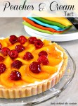 Peaches & Cream Tart