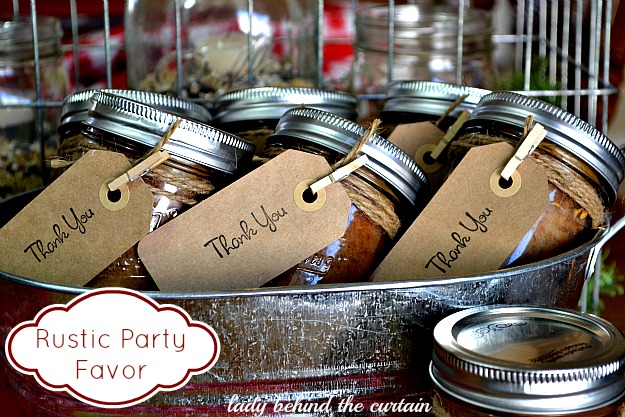 Lady Behind The Curtain - Rustic Party Favor-Banana Bread In A Jar