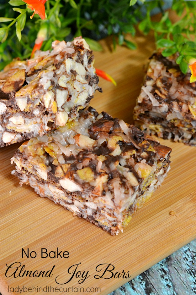 No Bake Almond Joy Bars - Lady Behind The Curtain