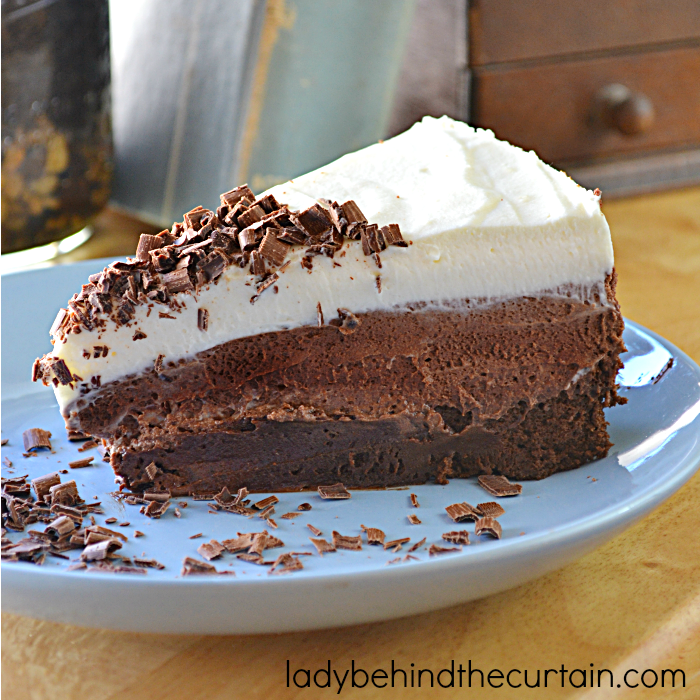Ghirardelli Chocolate Espresso Mousse Layer Cake