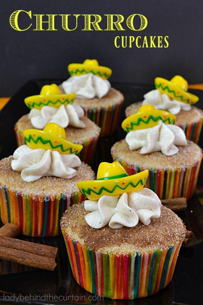 Churro Cupcakes   Transform your favorite cinnamin treat into a cupcake!