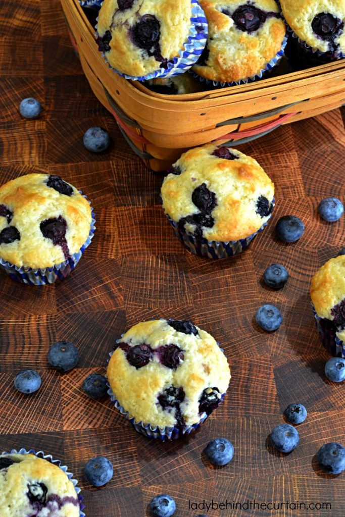 Easy Blueberry Buttermilk Biscuit Muffins