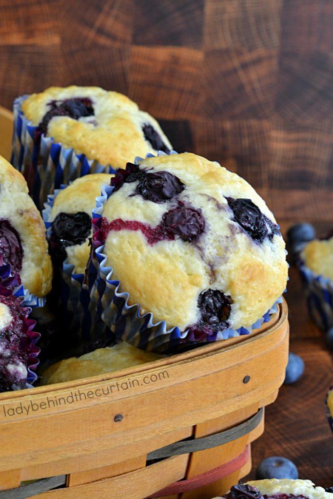 Easy Blueberry Buttermilk Biscuit Muffins