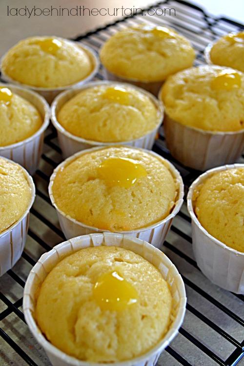 Glazed Lemon Curd Muffins